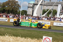 Benetton-Ford B192 3.5-litre V8 1992, Michael Schumacher at Fifty, Speed Kings, Motorsport's Record Breakers, Goodwood Festival of Speed (2)