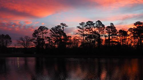 sunrise dawn twilight fairfieldharbour northcarolina lake omdem10 olympus