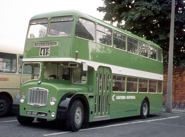 Eastern National Omnibus Company . 2924 AEV818F . Colchester Bus Park , Essex .  September-1973 .
