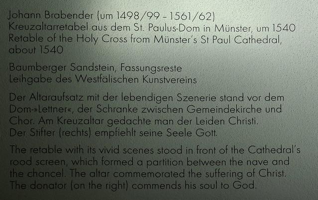 Münster, Westfalen, Landesmuseum, Kreuzaltar from the PaulusDom in Münster / Brabender, info