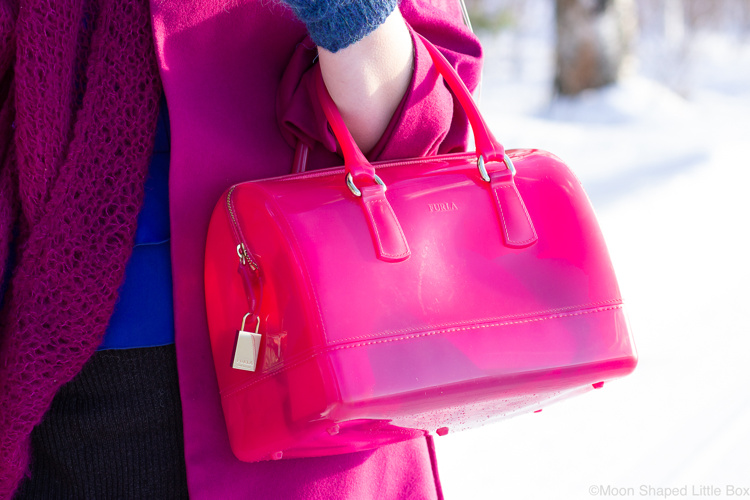 Furla-pinkki-laukku