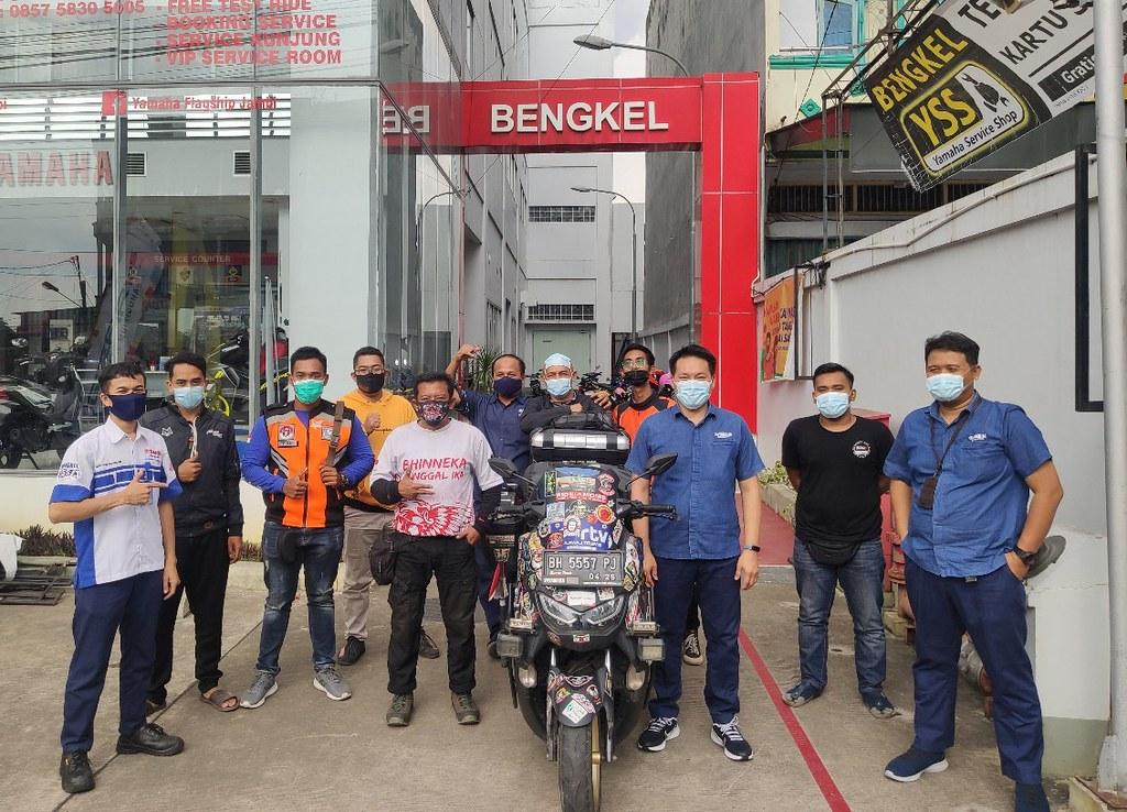 Lilik Gunawan Tiba Di Jambi di Sambut Team yamaha DDS Jambi