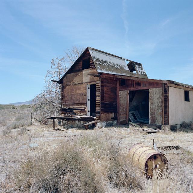 lonesome shack. mojave desert, ca. 2015.