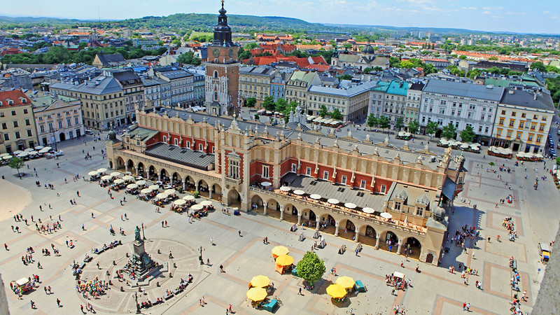 View from the Bell Tower - St Mary's Bascilica, Krakow, Poland
