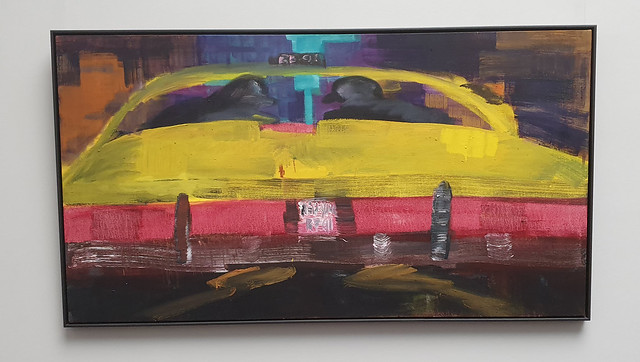 Yellow Cab by Rainer Fetting at The Städel, Frankfurt/Main