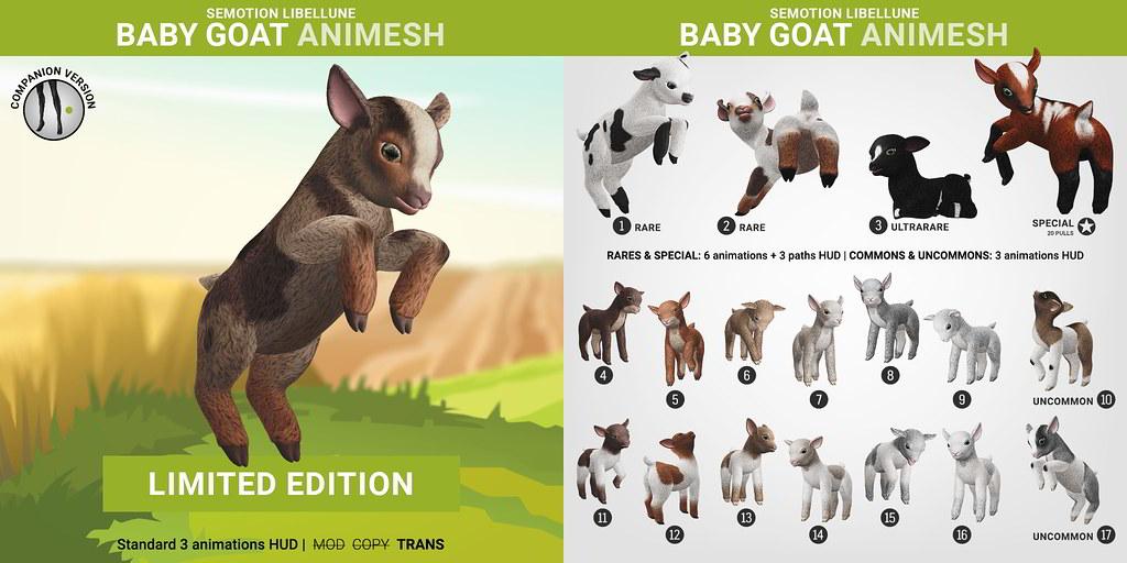 SEmotion Libellune Baby Goat Animesh