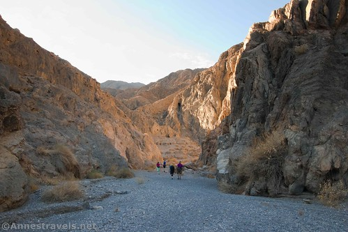 Hiking up the lower part of Grotto Canyon, Death Valley Ntaional Park, California