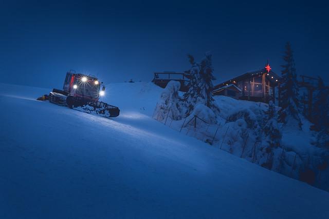 Tahko kabiini Panorama Bar sininen hetki
