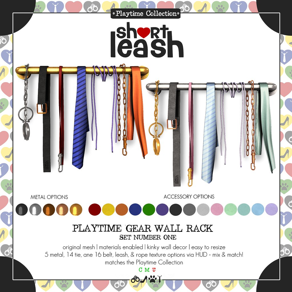 .:Short Leash:. Playtime Gear Wall Rack