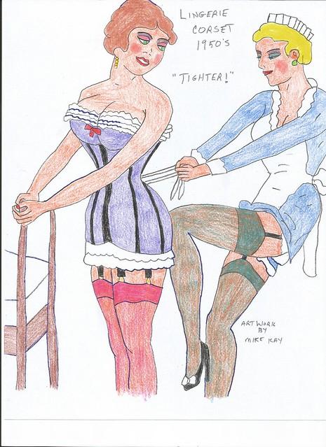 Lingerie Corset-Color-1950s-2