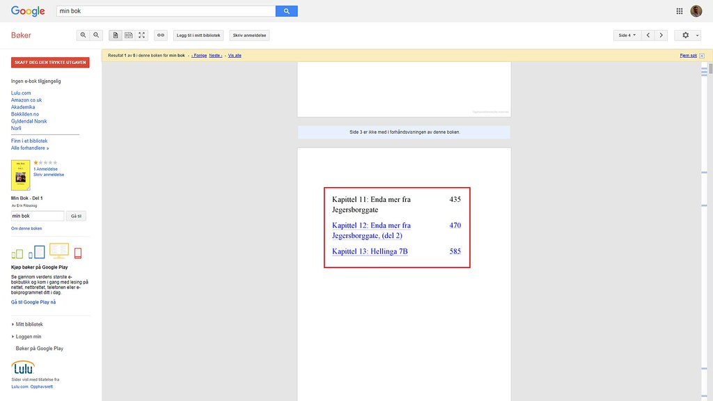 mer om innholdsfortegnelse google books