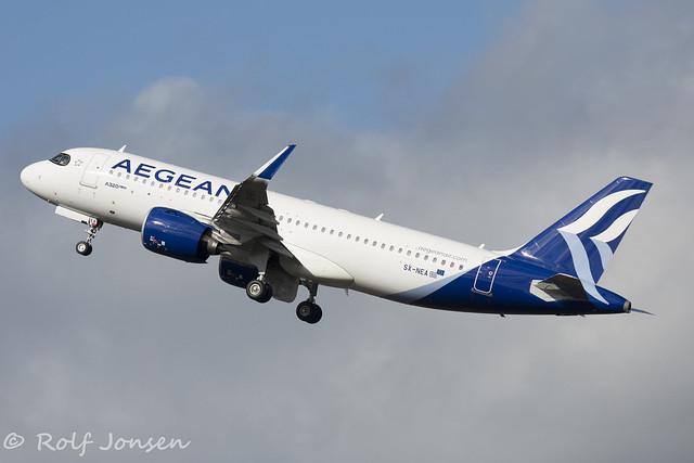 SX-NEA Airbus A320NEO Aegean Airlines Edinburgh airport EGPH 19.03-20