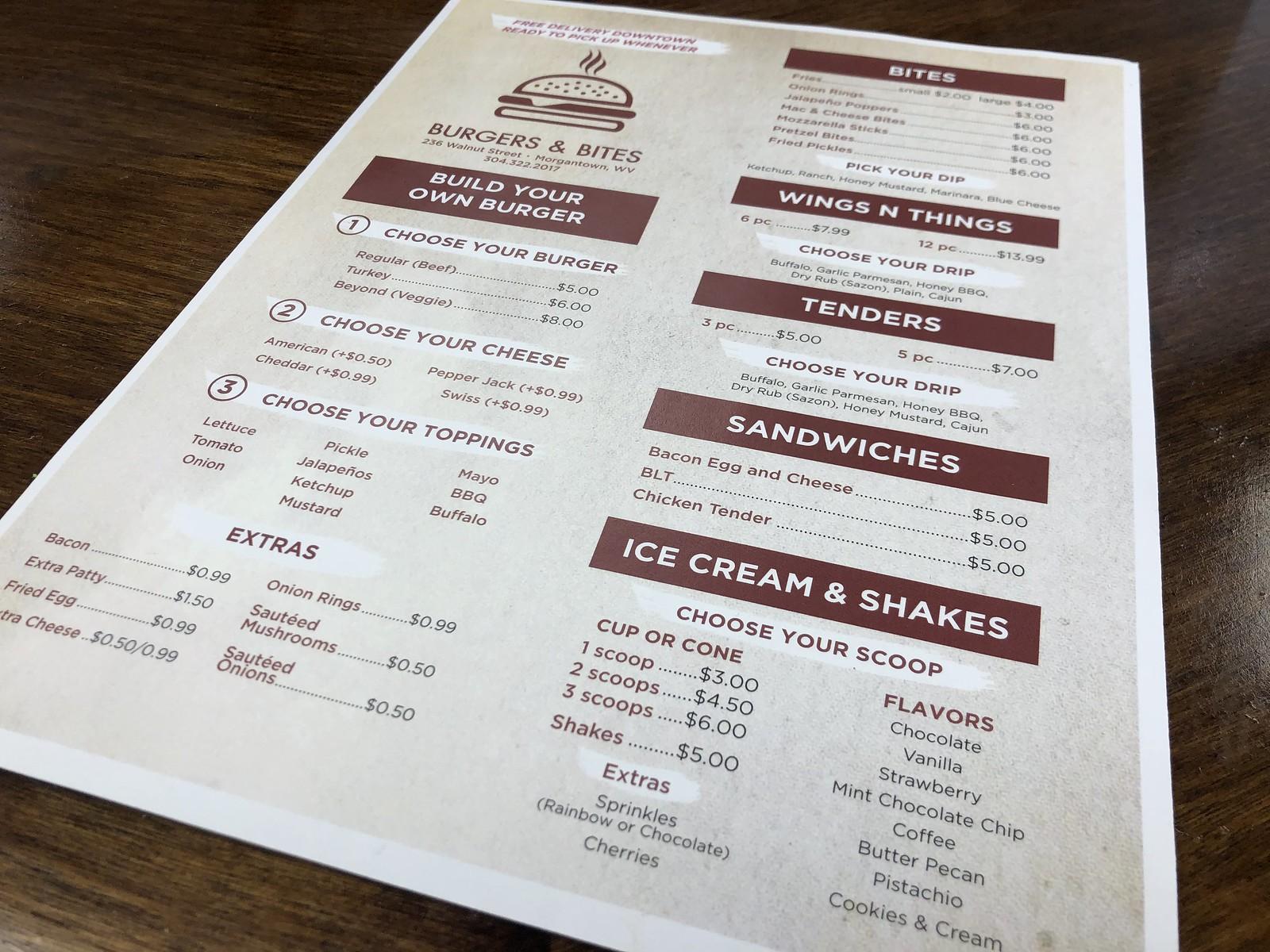 Burgers & Bites WV