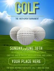 Golf Tournament Customizable Tournament Event Template