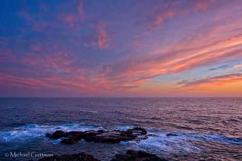 california mendocino ocean seascape sunset coast colorful