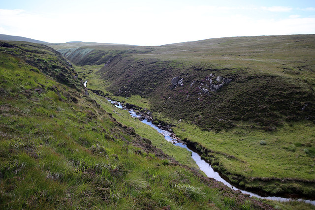 The valley of Allt na Clais Leobairnich near Cape Wrath