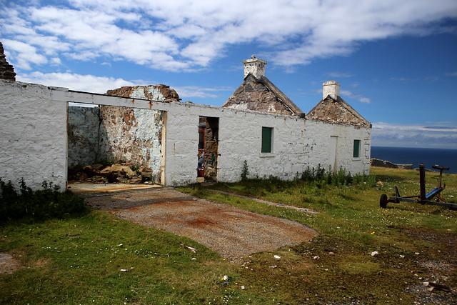 Buildings beside Cape Wrath lighthouse