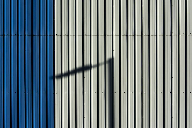 Shadow on Blue and White