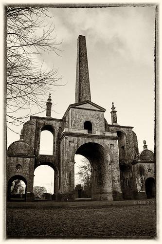 mbe ireland eire 2021 connolly folly architecture january winter nik bw sepia canon eos 80d kildare maynooth celbridge leixlip opw obelisk