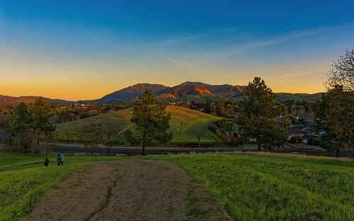 olympus sunset alpenglow mountain landscape nature