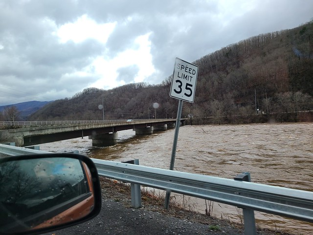 High water in Summers County, WV- March 1, 2021
