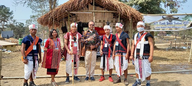 Judging Miss KYF in karbi Youth Festival -2021 Prasantt Ghosh
