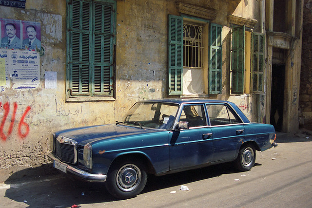Early 1970s Mercedes Benz 114/115, Beirut