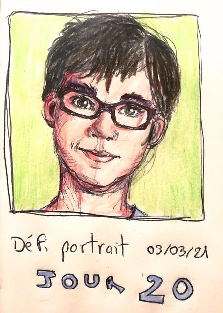 Défi portrait #atelierdessinrenata JOUR 20
