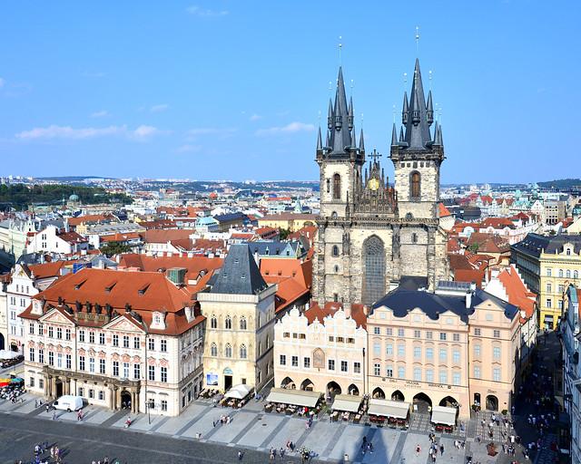 Vistas desde la torre del Ayuntamiento de Praga