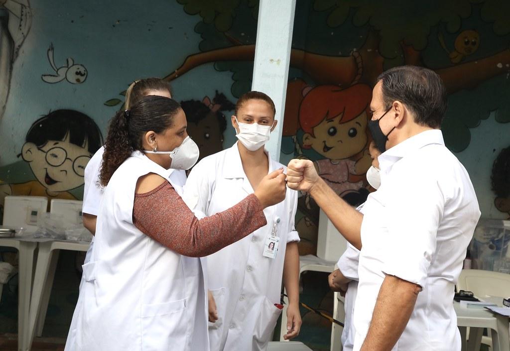 Visita ao Instituto Butantan para liberação de novas doses da Vacina do Butantan contra Covid-19