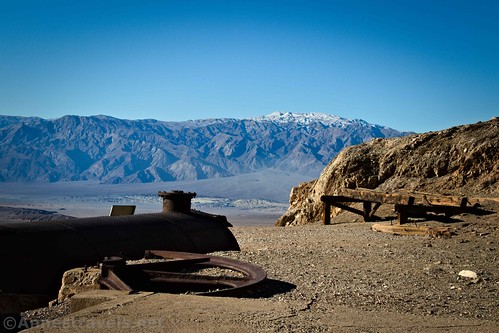 Views from the mill site - note the fresh snow on the mountains!  Death Valley National Park, California
