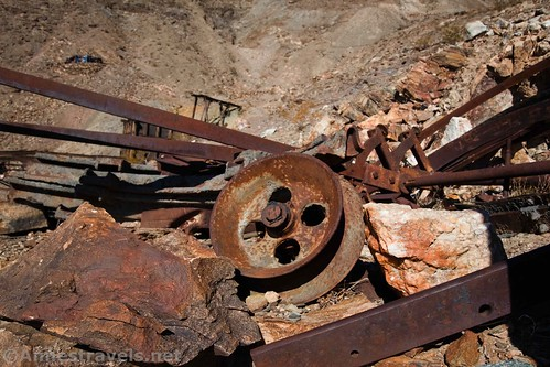 Pulley at the Keane Wonder Mine Site, Death Valley National Park, California