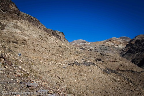 Hiking up the upper portion of the Keane Wonder Trail, Death Valley National Park, California