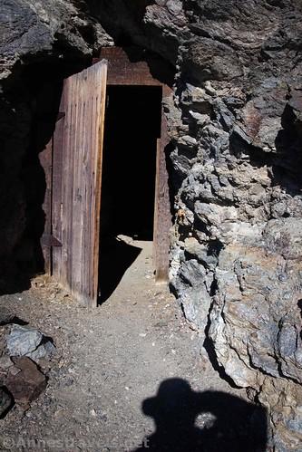 The door on the mine, Keane Wonder Trail, Death Valley National Park, California