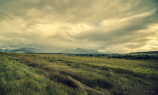 Moody landscape near Spean Bridge, Scotland.