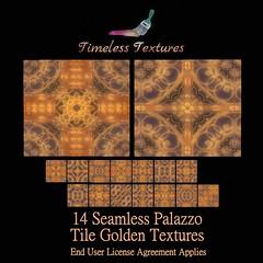 TT 14 Seamless Palazzo Tile Golden Timeless Textures