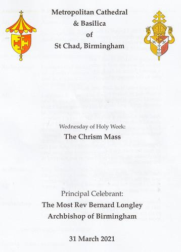 The Chrism Mass 2021