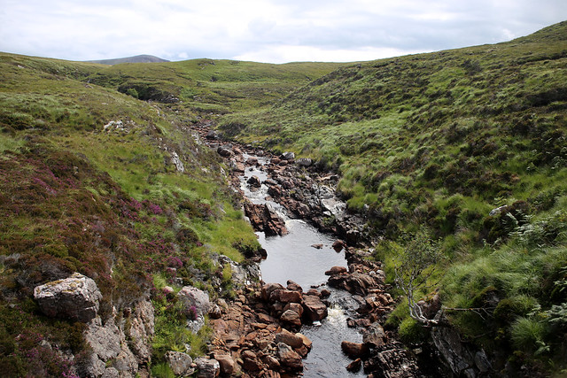 Crossing the Kearvaig River