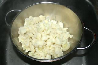 13 - Drain cauliflower / Blumenkohl abtropfen lassen