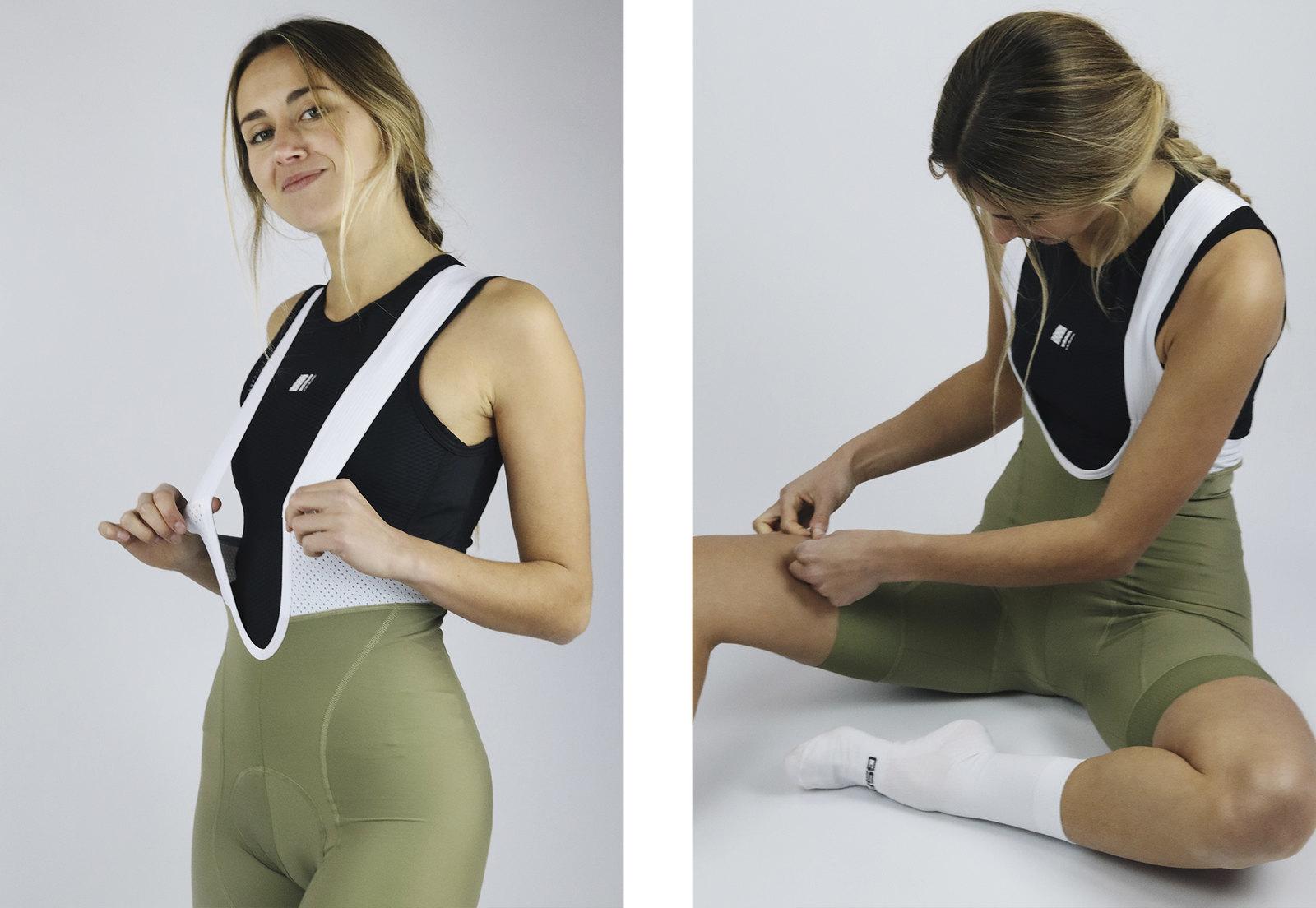 Women's Endurance Grey Bib Short