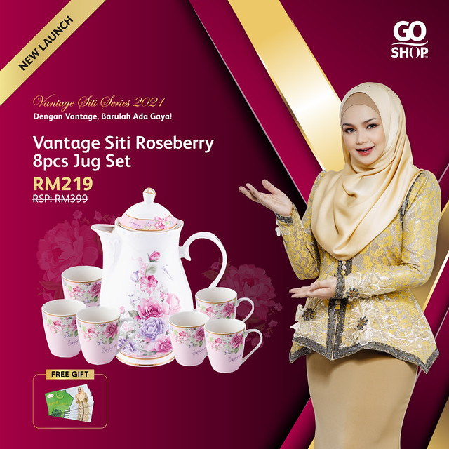 8. Vantage Siti Roseberry 8pcs Jug Set