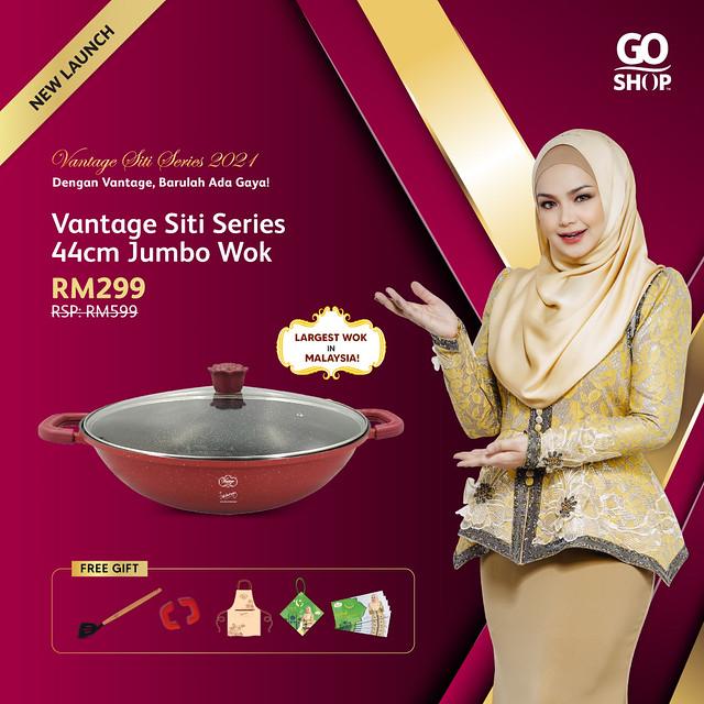 4. Vantage Siti Series 44cm Jumbo Wok