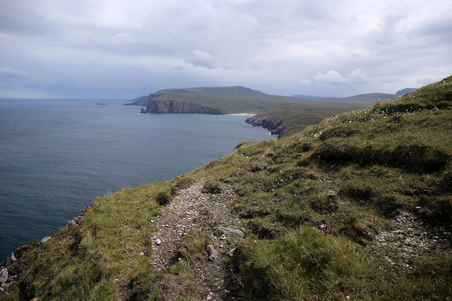 The coast at Cape Wrath looking east to Kearvaig