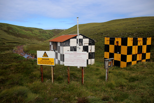 Military check point on the road to Cape Wrath
