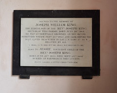 accidentally drowned on his second homeward voyage and sank before the boat could reach him in lat 5° N long 27° 30 W