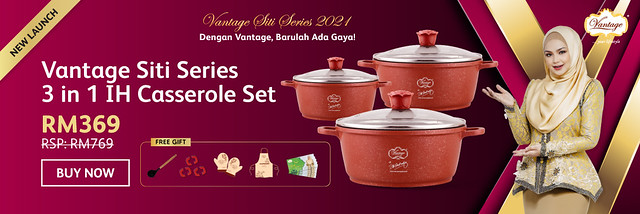 5. Vantage Siti Series 3 in 1 IH Casserole Set