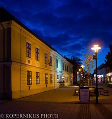 Abendstimmung vor dem Rathaus