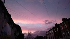 A red sky this evening to delight the Putney shepherds (Mar 17)