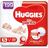 Huggies Dry Pants, Small Size Diapers (4 - 8 kg), 20 count
