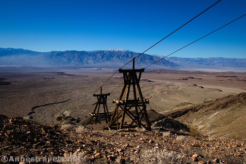 The two towers along the Keane Wonder Trail with views across Death Valley, California